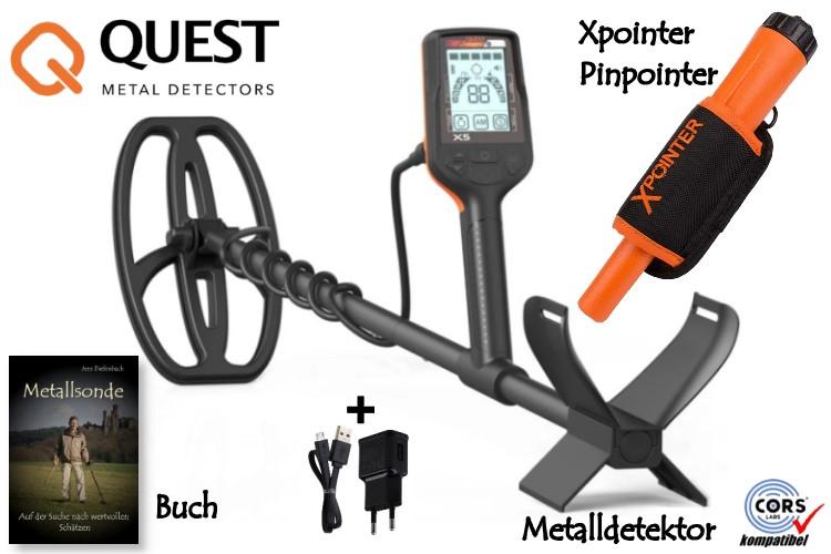 Quest X5 Metalldetektor & Xpointer Pinpointer & Schatzsucherhandbuch
